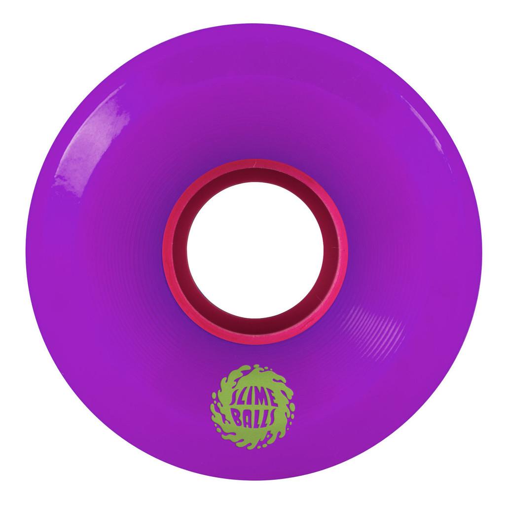 Santa Cruz Slime Balls OG Slime Wheels 60mm/78a Purple (Set of 4)