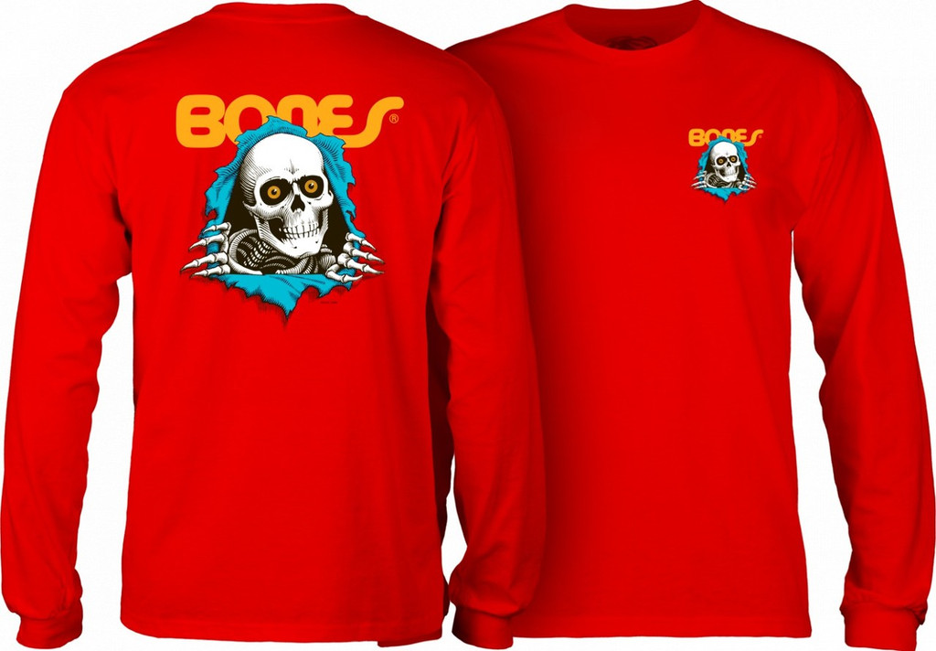 Powell Peralta Old School Bones Ripper Long Sleeve Shirt (Available in 5 Colors)