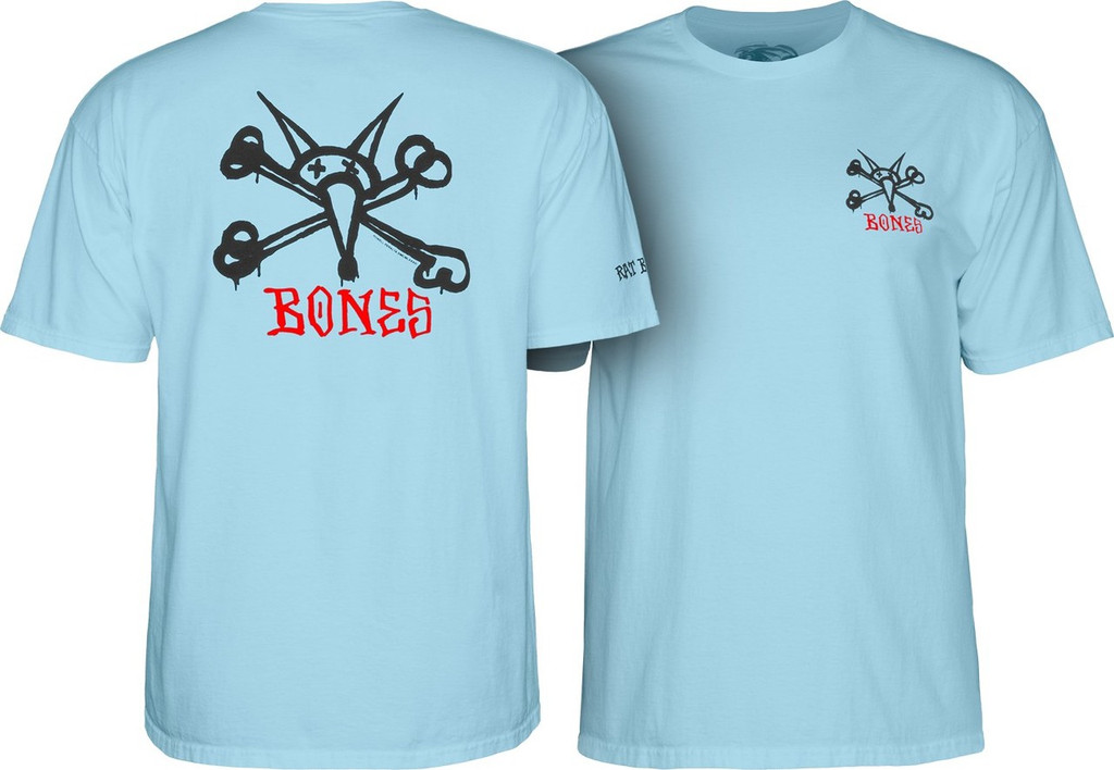 Powell Peralta Old School Rat Bones T-Shirt (Light Blue)