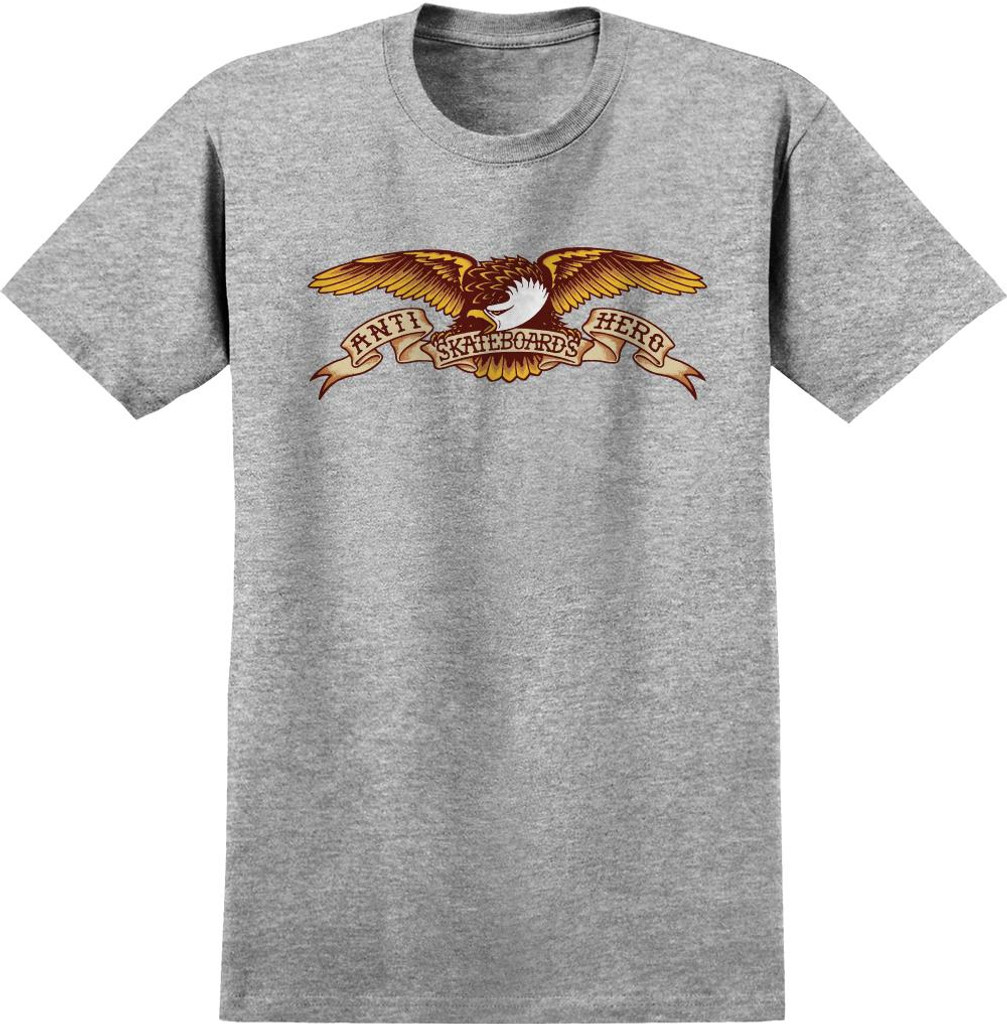 Antihero Skateboards Eagle T-Shirt (Athletic Heather)