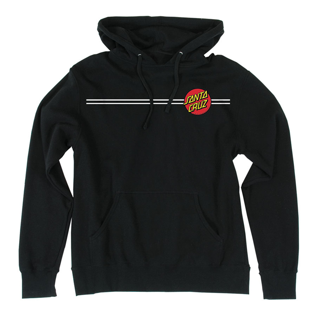 Santa Cruz Classic Dot Pullover Hooded Sweatshirt (Black)
