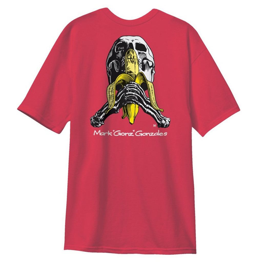 Blind Heritage Mark Gonzales Skull & Banana Vintage Pink Premium T-Shirt