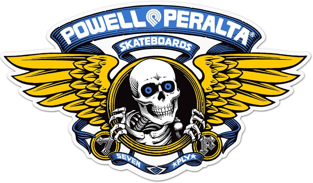 Powell Peralta Winged Ripper Die Cut Reissue Sticker (Blue)