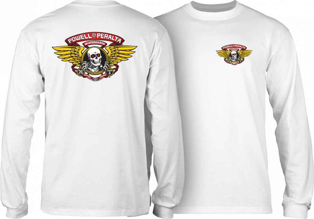 Powell Peralta Old School Winged Ripper Long Sleeve Shirt (Available in 5 Colors)