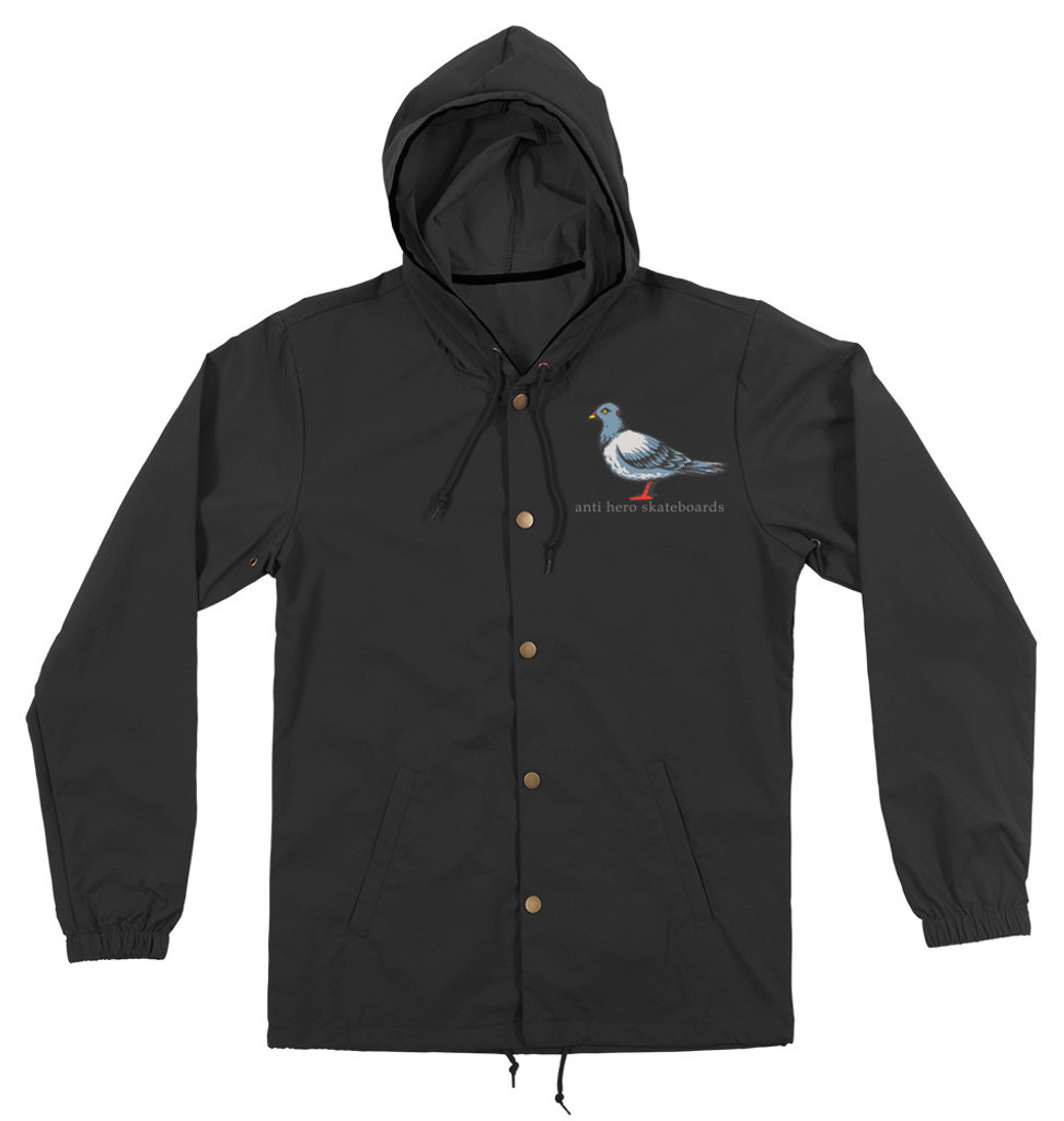 Antihero Lil' Pigeon Button Up Hooded Jacket (Black)