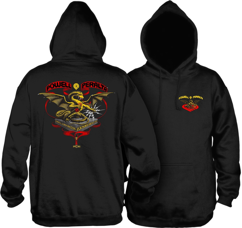 Powell Peralta Old School Banner Dragon Hooded Sweatshirt (Available in 3 Colors)