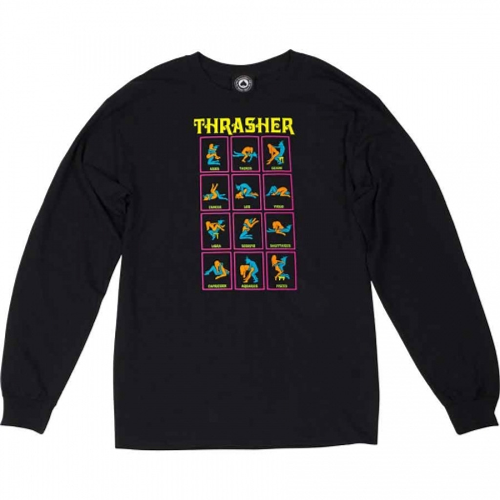 Thrasher Black Light Long Sleeve Shirt (Black)