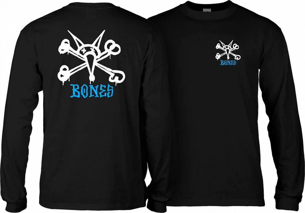 Powell Peralta Old School Rat Bones Long Sleeve Shirt (Black)