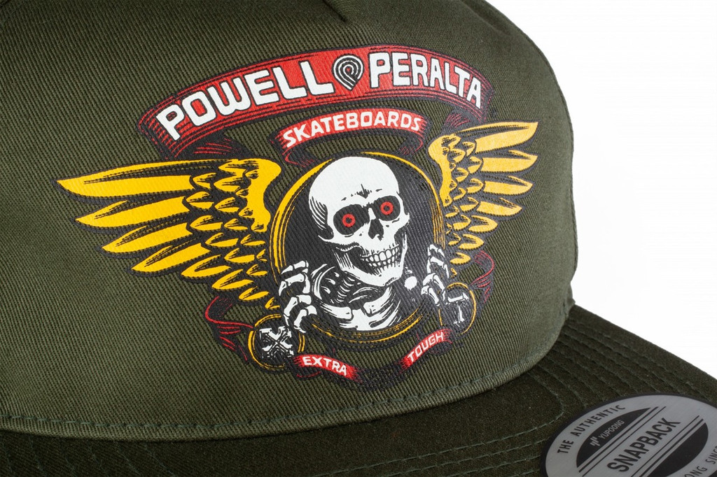 Powell Peralta Winged Ripper Snapback Hat (Military Green)