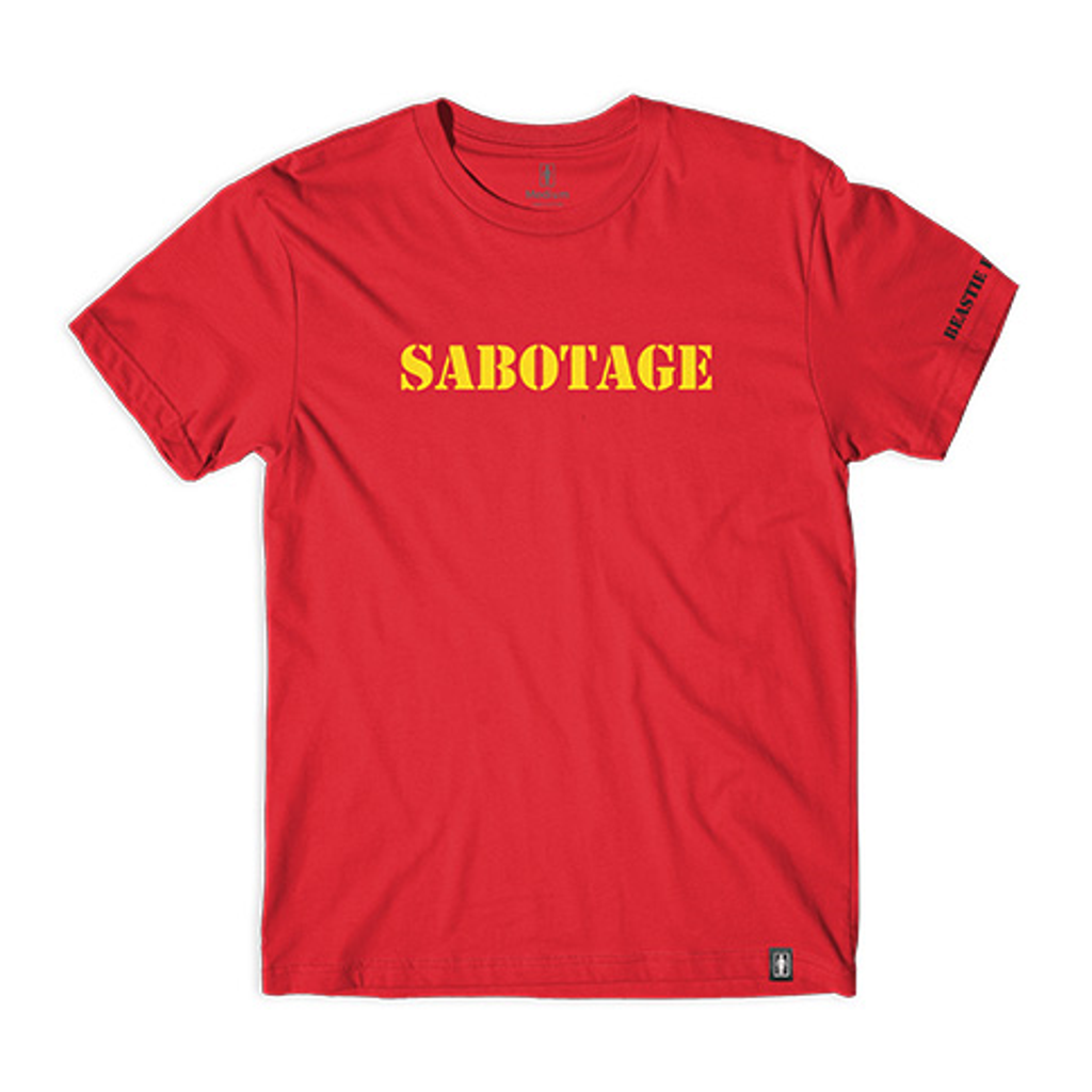 Girl x Beastie Boys Sabotage Type T-Shirt (Red)
