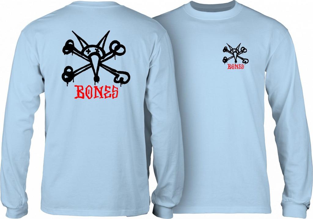 Powell Peralta Old School Rat Bones Long Sleeve Shirt (Powder Blue)
