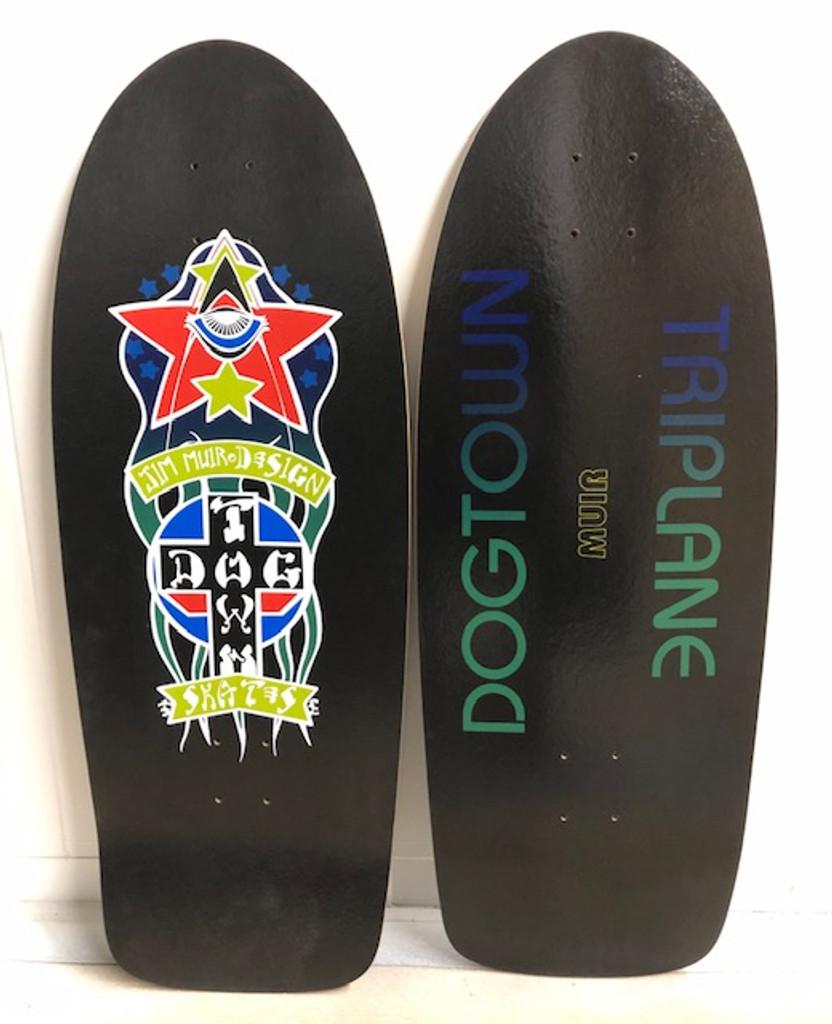 """Dogtown Muir Triplane Old School Reissue Deck 11"""" X 30"""" (Black)"""