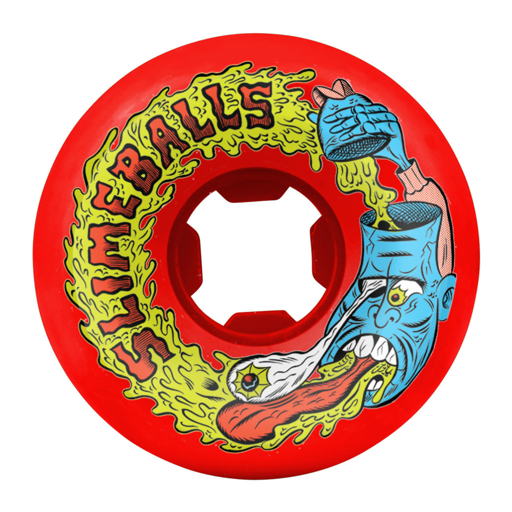 Santa Cruz Slime Balls Barfhead Wheels 54mm/97a Red (Set of 4)