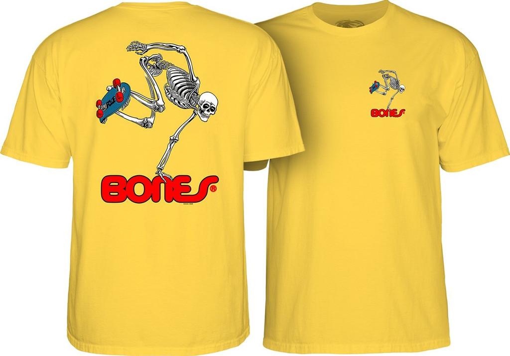 Powell Peralta Old School Skateboarding Skeleton T-Shirt Yellow
