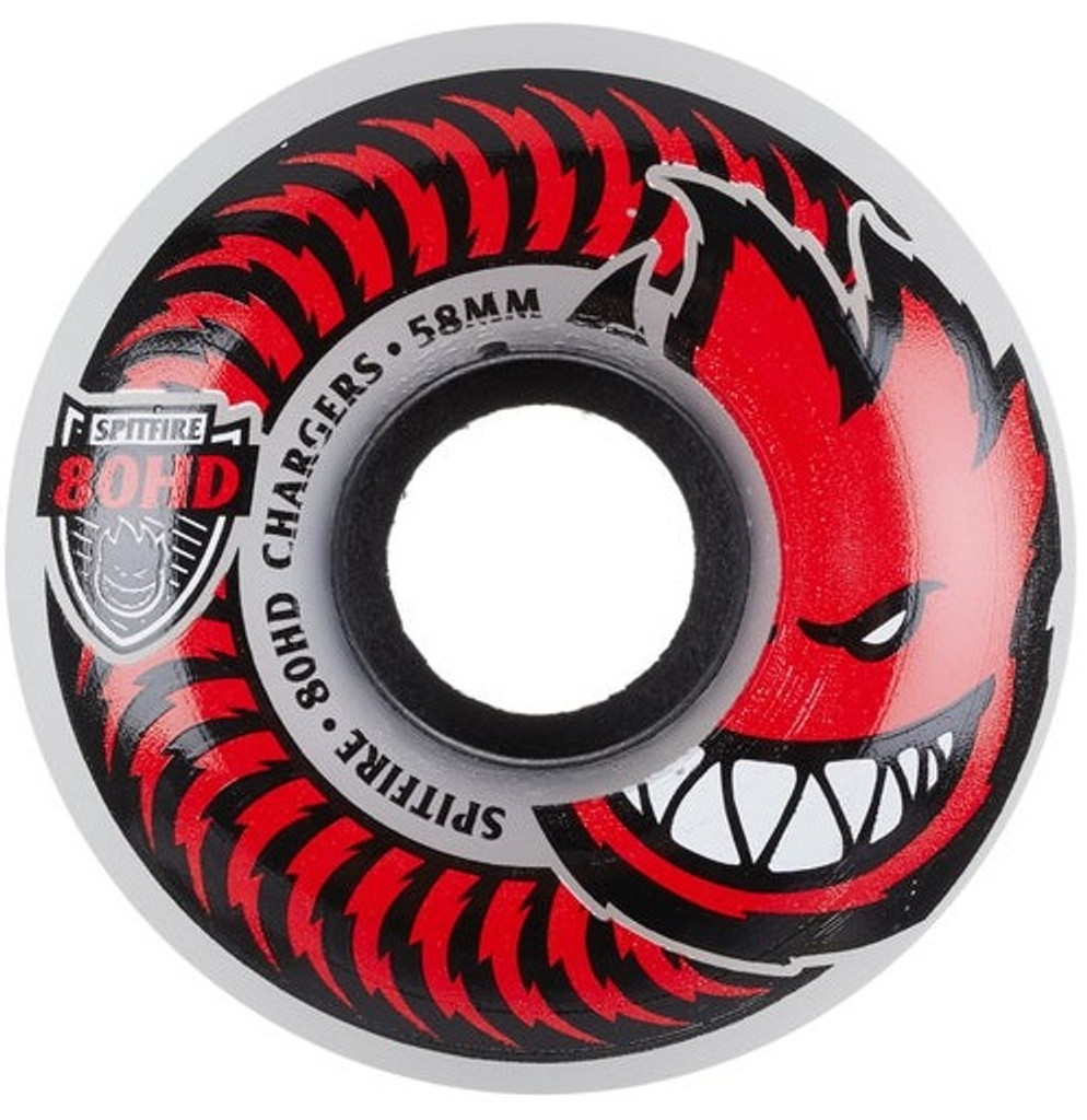 SPITFIRE 80HD Chargers Classic Clear 58mm Wheels (Set of 4)