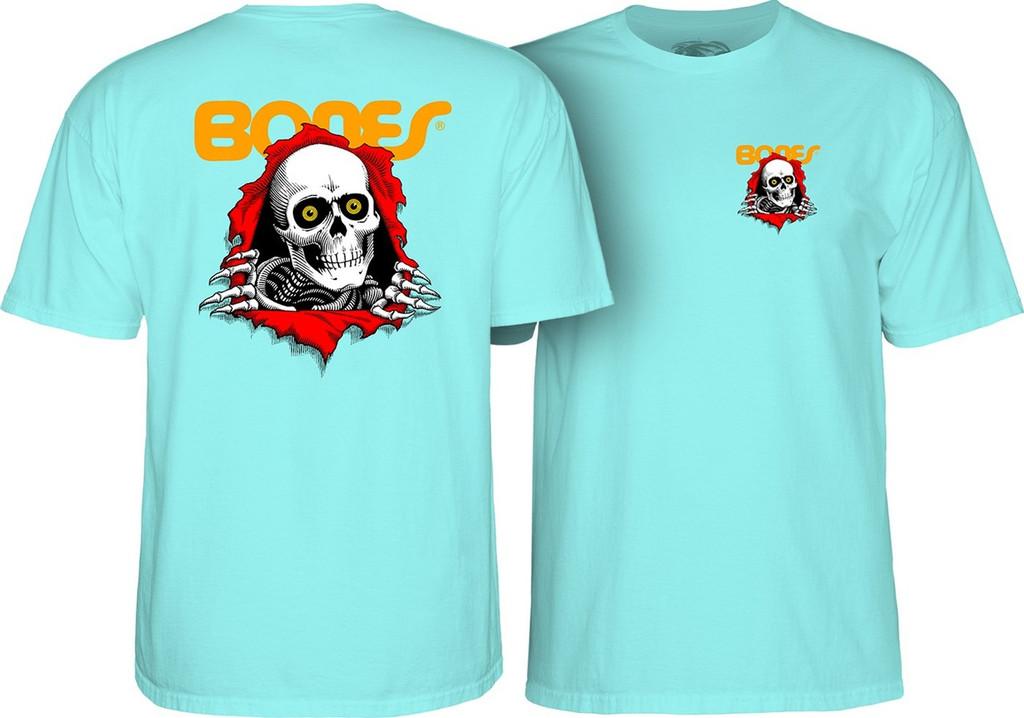 Powell Peralta Old School Ripper T-Shirt Aqua Blue