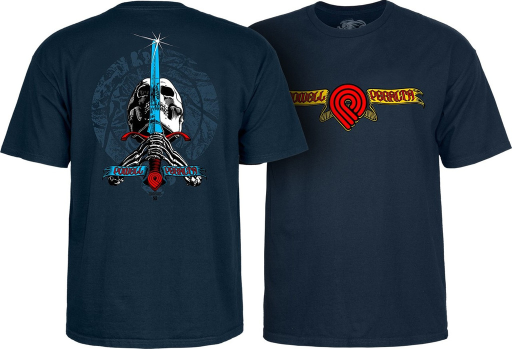 Powell Peralta Triple P Skull & Sword T-Shirt (Available in 5 Colors)