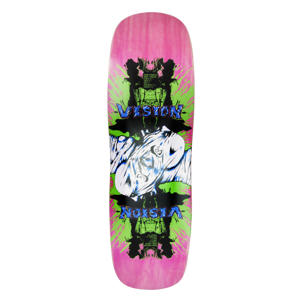 Old School Vision Double Vision Reissue Deck (Pink)