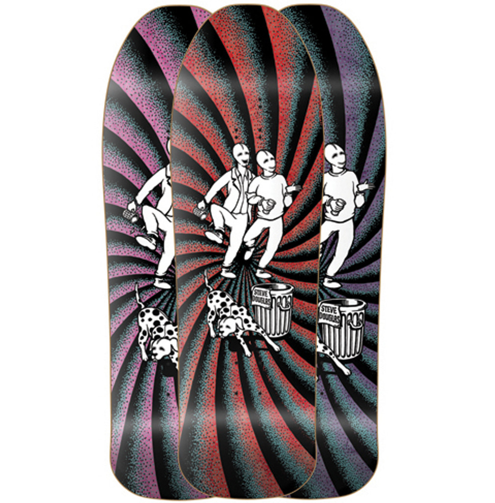 New Deal Steve Douglas Chums Old School Reissue Screened Deck 9.75""