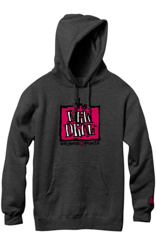 New Deal OG Napkin Logo Pullover Hooded Sweatshirt (Charcoal)
