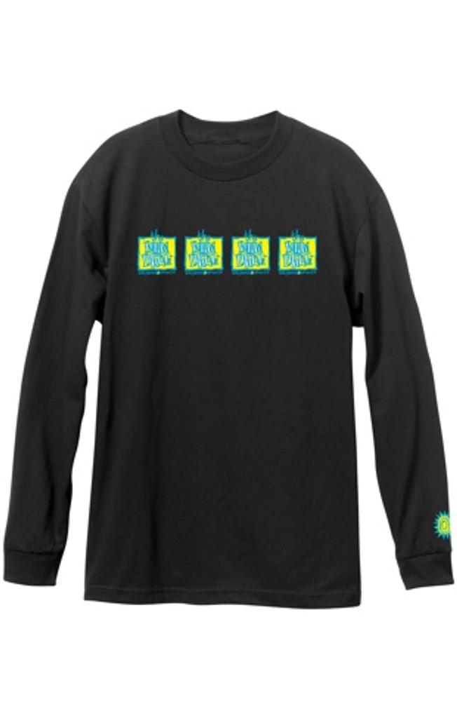 New Deal OG Napkin Logo 4-Bar Long Sleeve Shirt (Black)