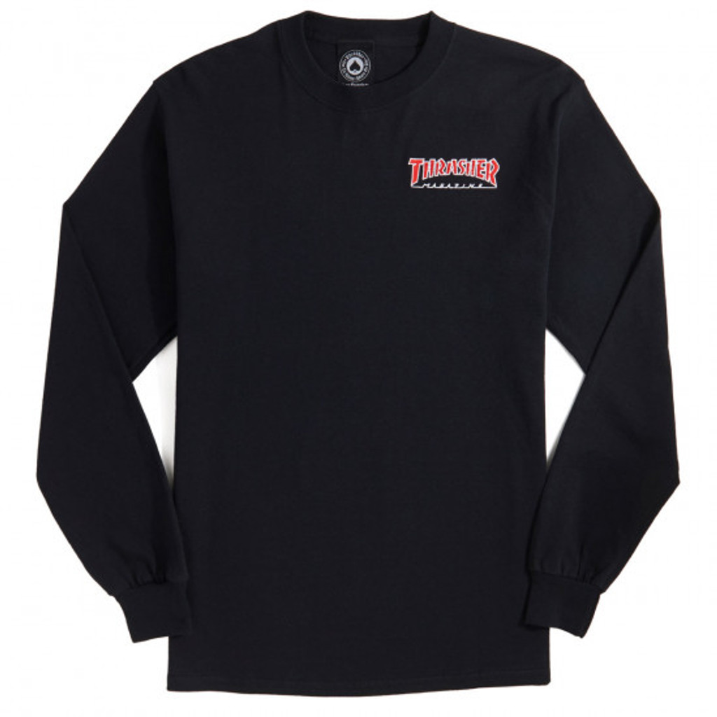 Thrasher Skate Mag Embroidered Outline Long Sleeve Shirt