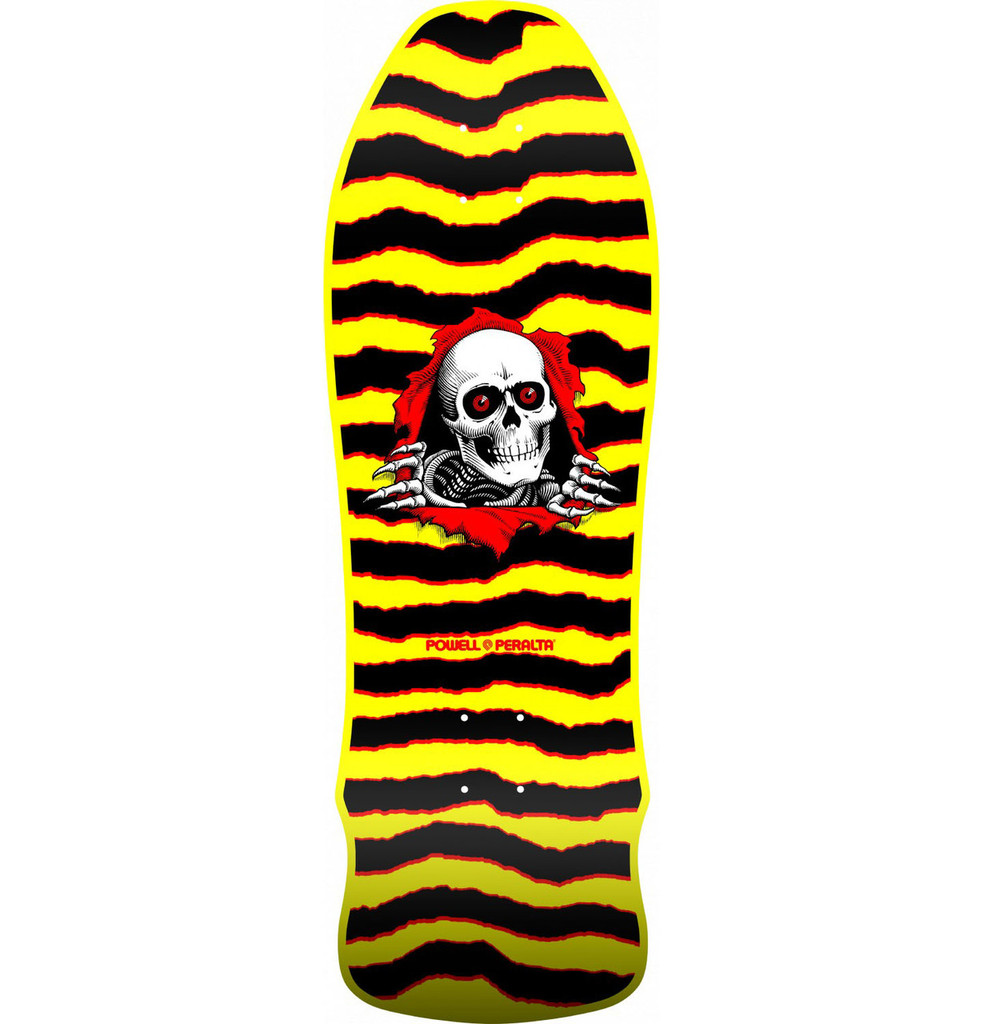 Powell Peralta Old School Ripper Geegah Re-Issue Deck Yellow