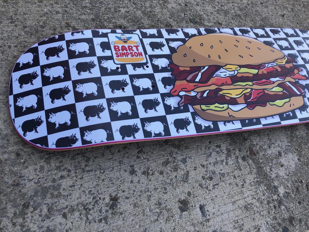 Prime Heritage Bart Simpson Krusty Burger Slick Deck OG Shape