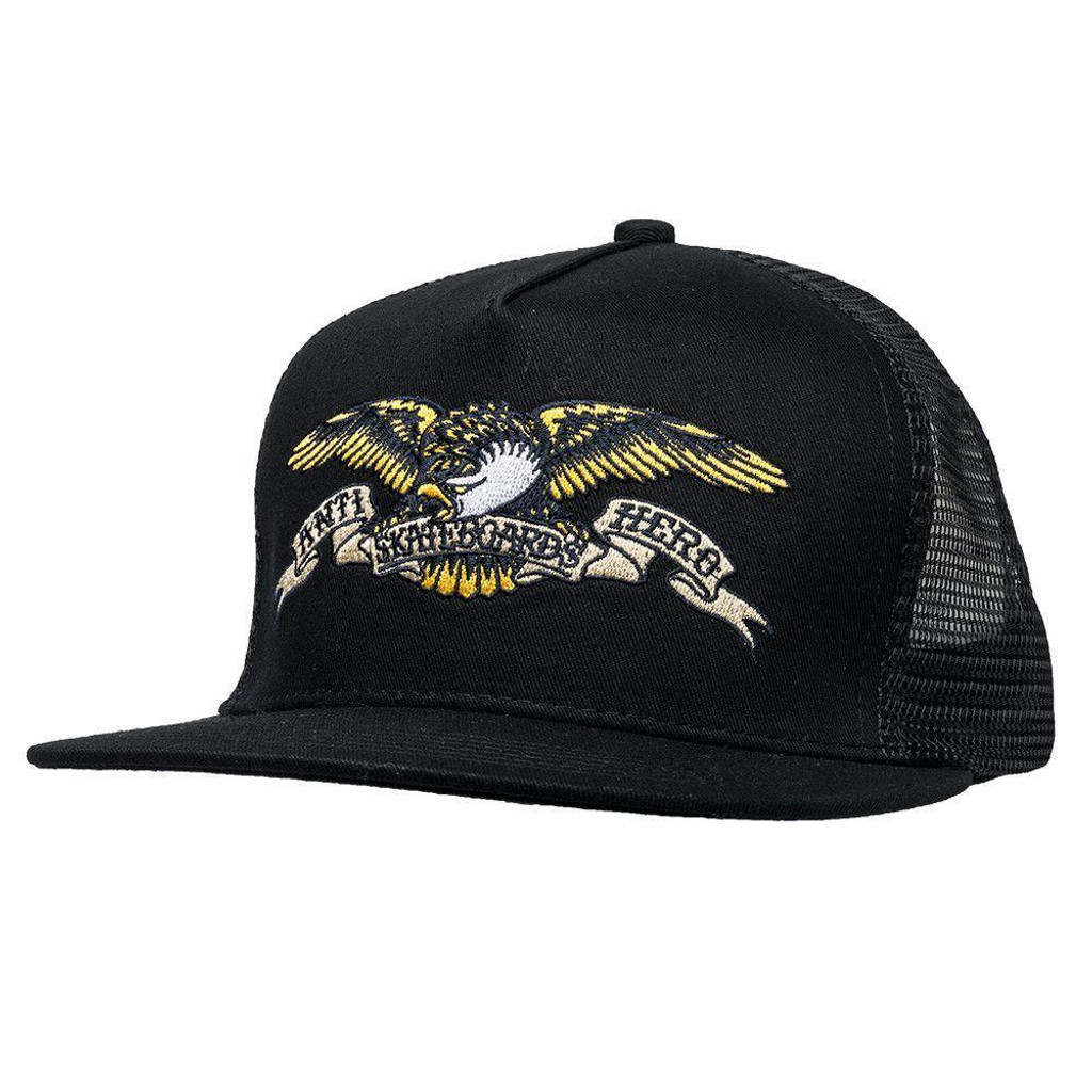 a893146c Antihero Skateboards Eagle Embroidered Snapback Trucker Hat Black