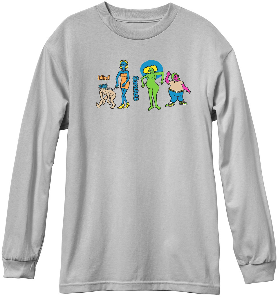 Blind Gonz Colored People Long Sleeve Shirt (Silver)