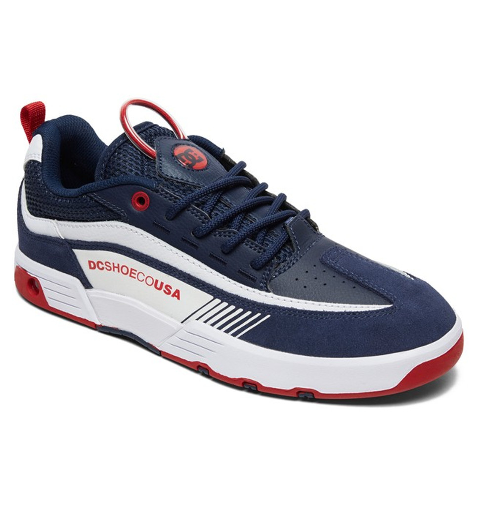 DC Shoes Legacy 98 Slim (Navy/Red) FREE USA SHIPPING