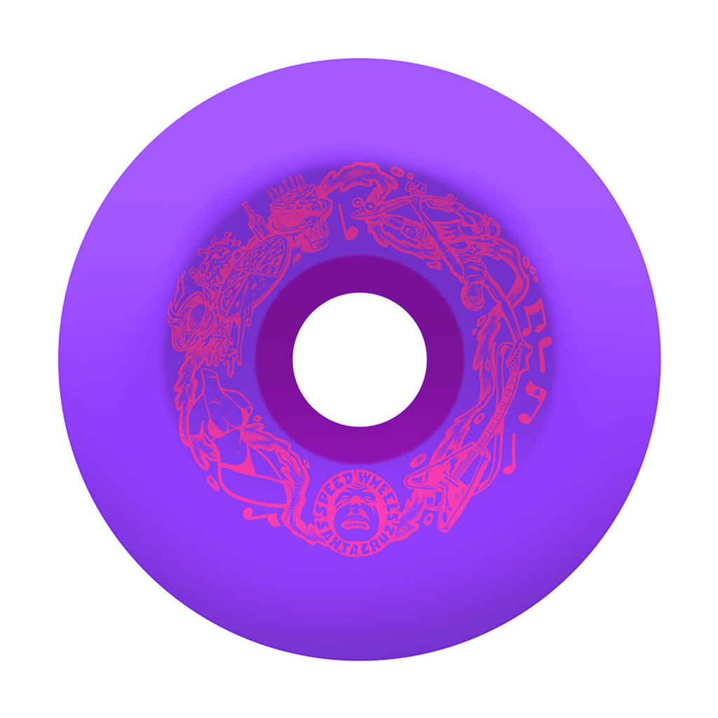 Santa Cruz Slime Balls Vomit Wheels 60mm/97a Purple (Set of 4)