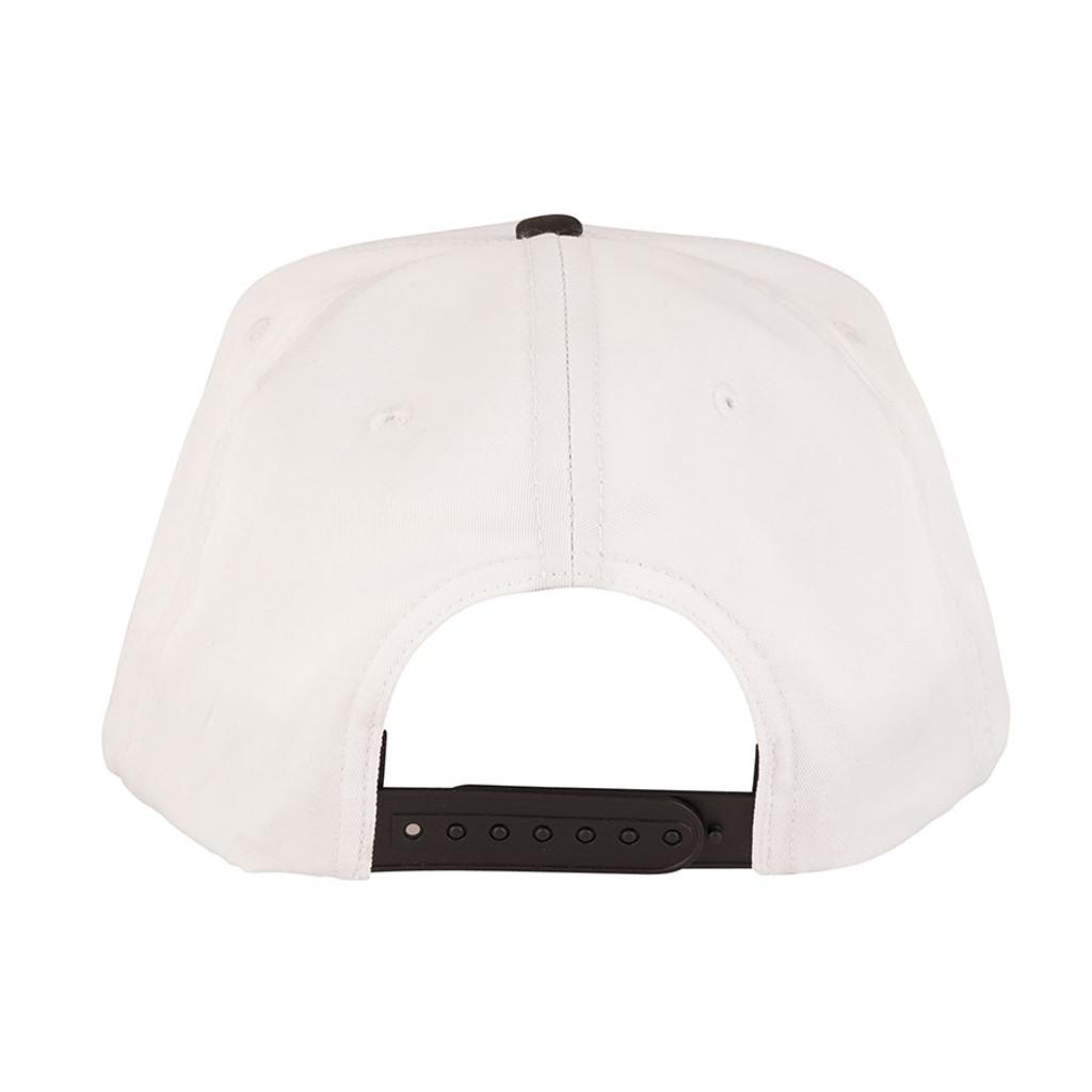 Santa Cruz Classic Dot Snapback Mid Profile Hat (White)