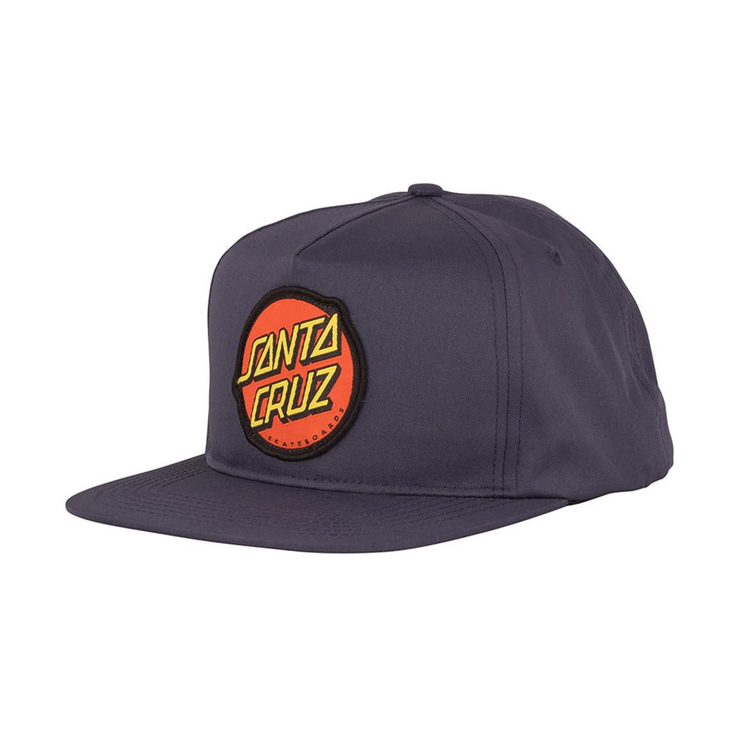 Santa Cruz Classic Dot Snapback Mid Profile Hat (Navy)