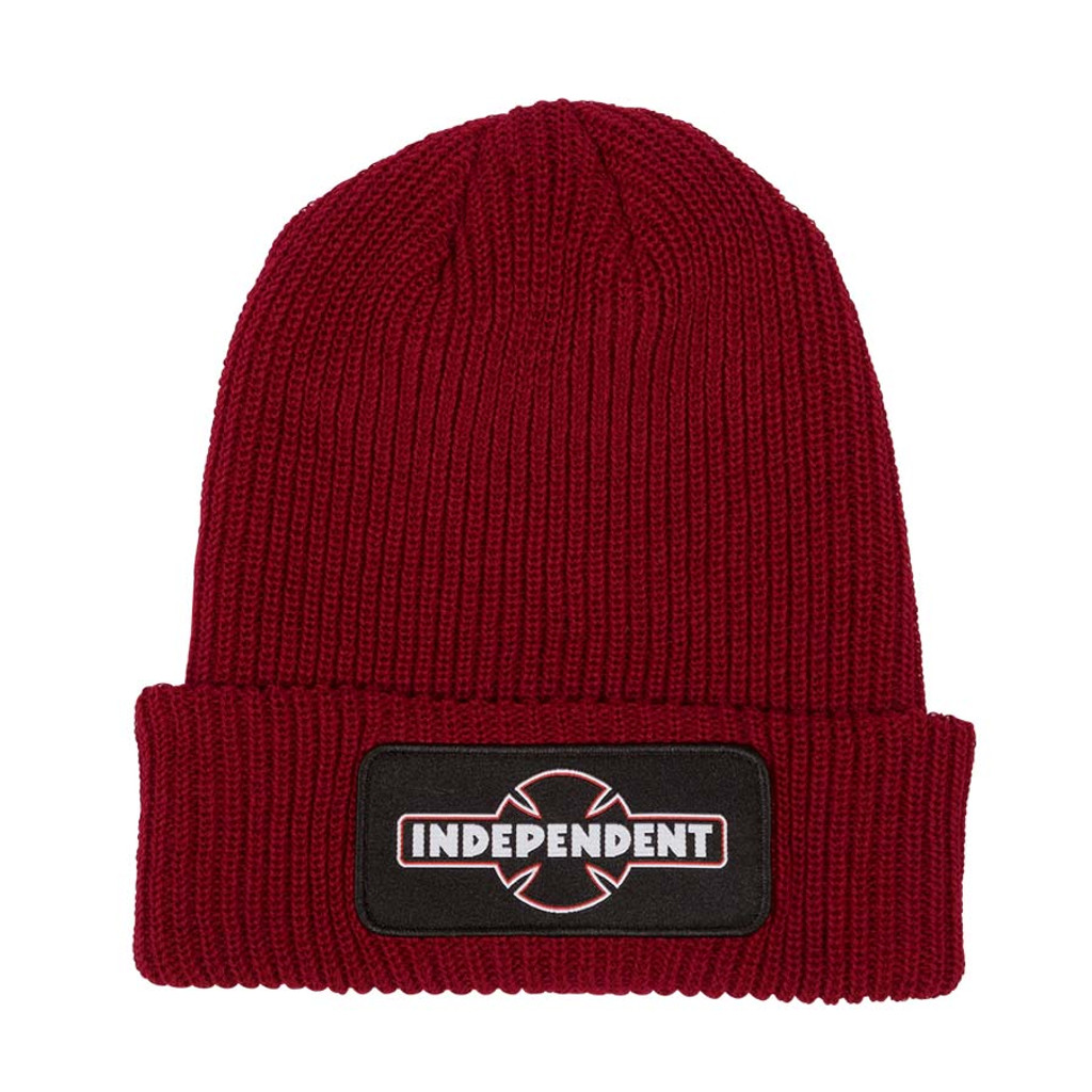 Independent Dual Pineline O.G.B.C. Long Shoreman Beanie (Ruby Red)