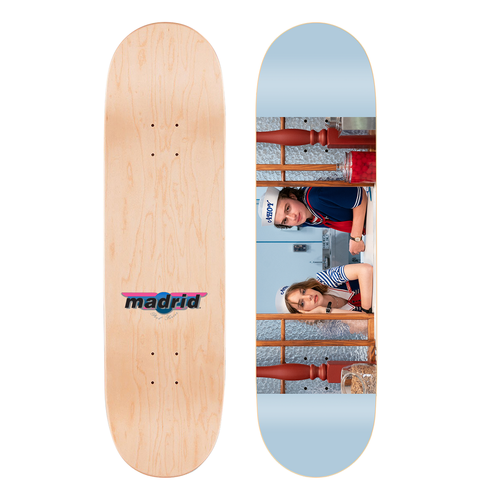 "Madrid x Stranger Things - Scoops Ahoy Skateboard Deck 8.5"" x 32"""
