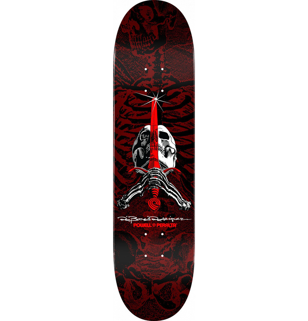 "Powell Peralta Skull & Sword Red Deck 8.5"" x 32.08"""