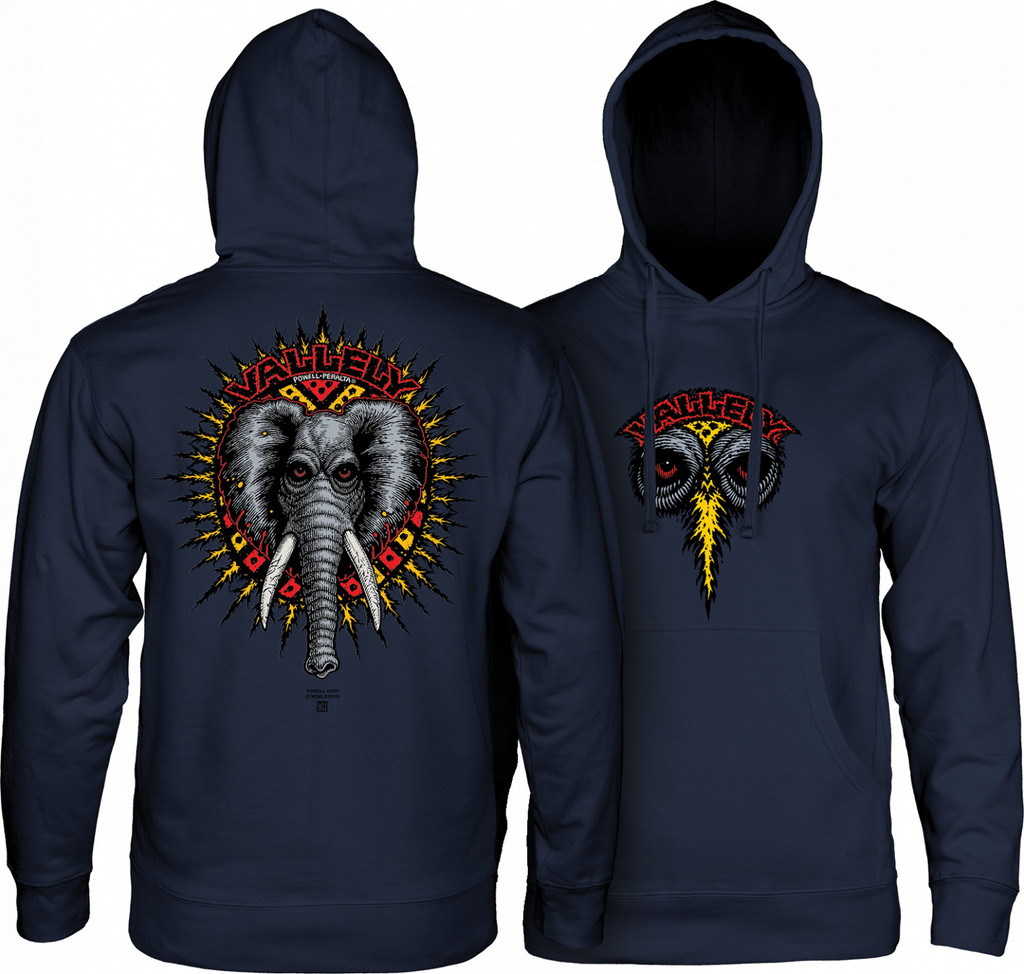 Powell Peralta Old School Vallely Elephant Hooded Sweatshirt (Available in 2 Colors)