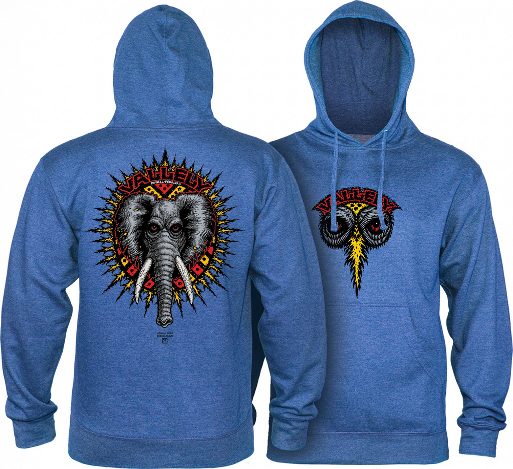 Powell Peralta Old School Vallely Elephant Hooded Sweatshirt (Royal Heather)