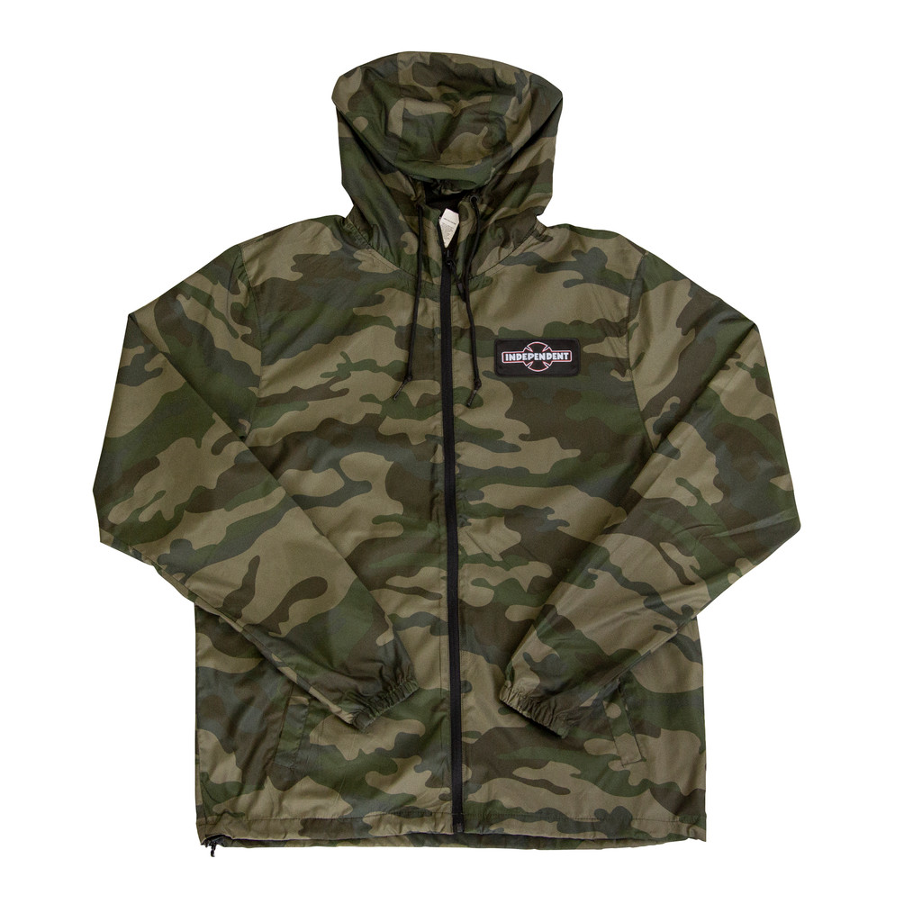 Independent O.B.G.C. Patch Hooded Windbreaker (Camo)