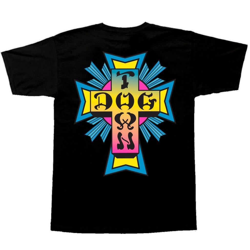 Dogtown Skates Cross Logo T-Shirt (Black/Neon)