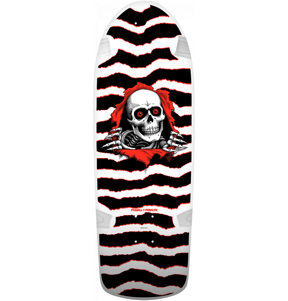Powell Peralta Old School OG Ripper Reissue Deck (White)