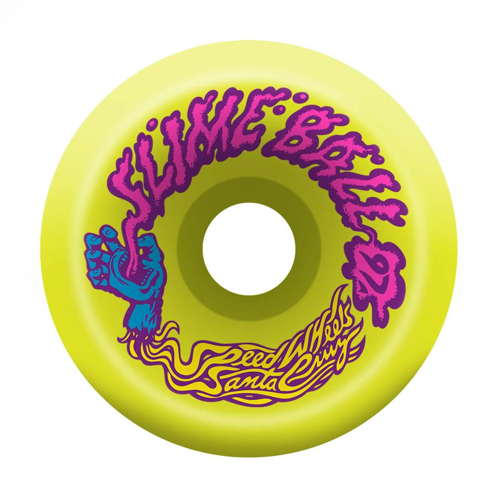 Santa Cruz Slime Balls Vomits Wheels 60mm/97a Yellow (Set of 4)