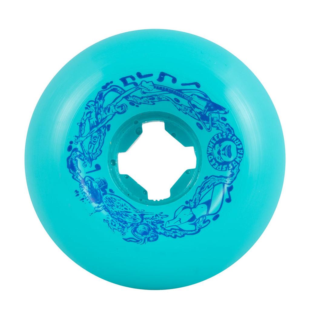 Santa Cruz Slime Balls Vomits Wheels 60mm/97a Teal (Set of 4)