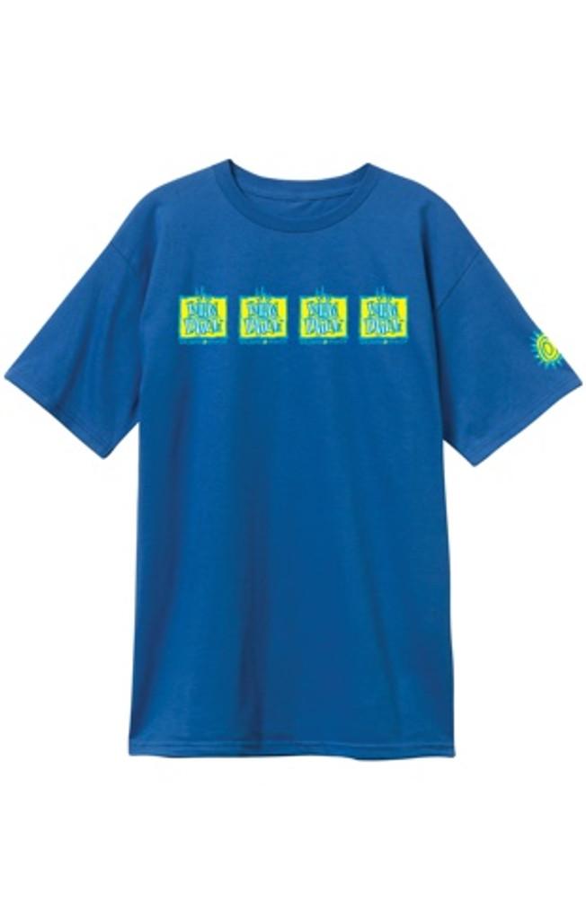 New Deal OG Napkin Logo 4-Bar T-Shirt (Blue)