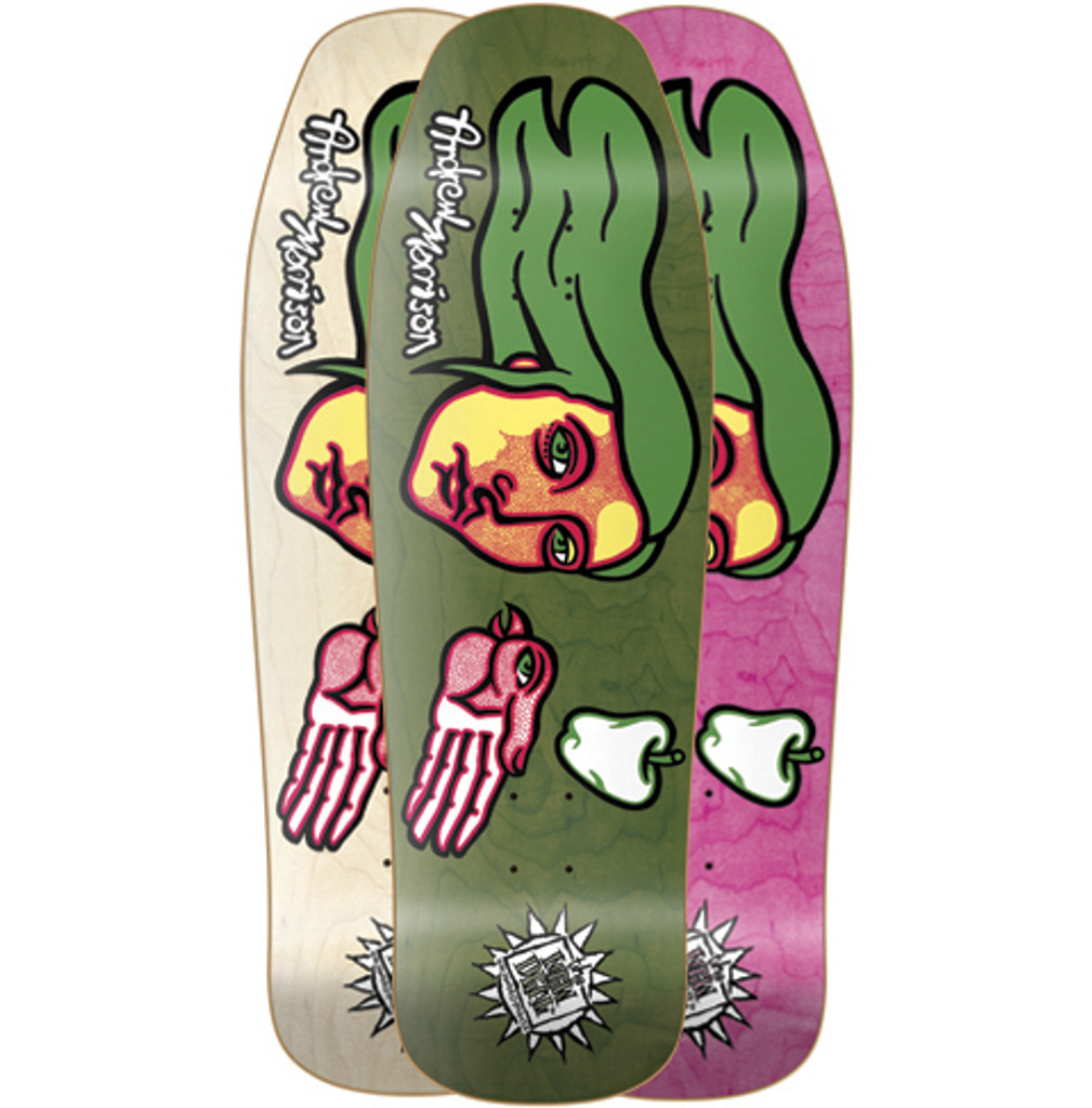 New Deal Andrew Morrison Bird Hand Old School Reissue Screened Deck 9.875""