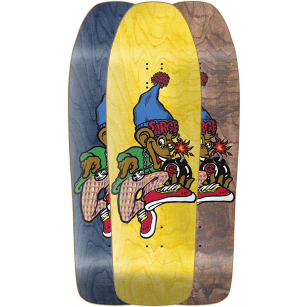 New Deal Danny Sargent Monkey Bomber Old School Reissue Screened Deck 9.625""