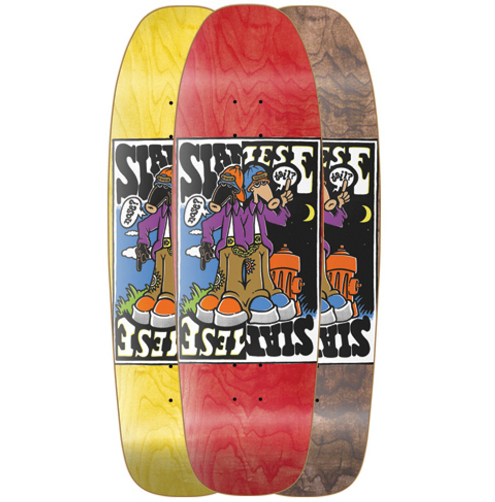 New Deal Siamese Double Kick Old School Reissue Screened Deck 9.625""