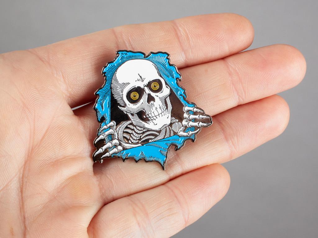 Powell Peralta Ripper Lapel Pin (Blue)