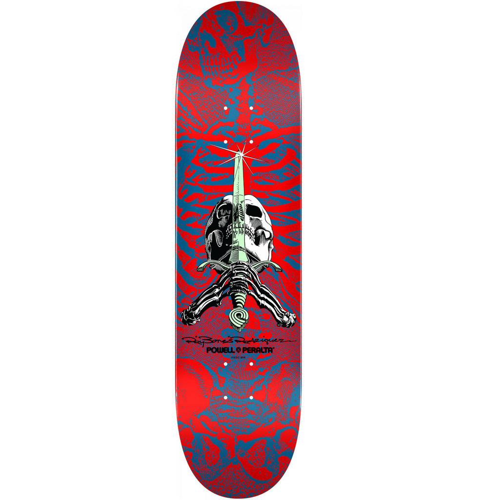 "Powell Peralta Skull & Sword Red Deck 9.05"" x 32.095"""
